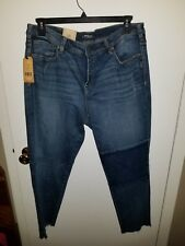 NWT SILVER IZZY Ankle Slim Jeans Womens Plus Size 16 L 27