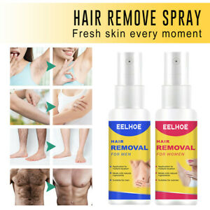 Natural Permanent Hair Removal Spray Stop Hair Growth Inhibitor Remover 10-50ml