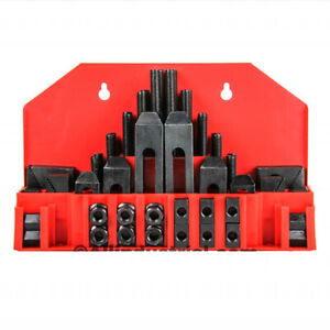 "58 Pc Pro-Series 7/16"" T-Slot Clamping Kit Bridgeport Mill Set Up Set 3/8-16"