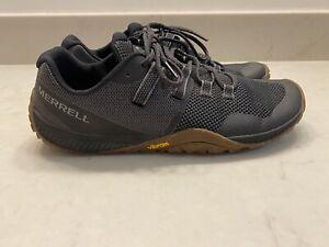 Merrell Trail Glove 6 Black J135379 Mens Size 10 Vibram Soles EUC