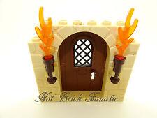 LEGO 1 x Porta Castello Marrone con Motivo Crema Pietra PLUS TORCE Harry Potter