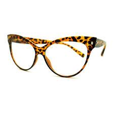 True Goth Cat Eye Clear Len Fashion Optical Eye Glasses - Tortoise