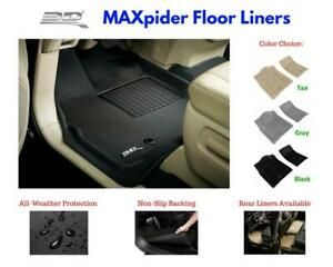 3D Maxpider Kagu Floor Mats Liners All Weather For Tesla Model S 2012-2017
