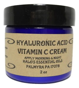 HYALURONIC ACID & VITAMIN C FACE CREAM 2 oz INTENSE MOISTURIZER FADE AGE SPOTS