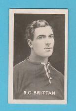 FOOTBALL - THE CHAMPION -  FOOTBALL  CAPTAIN  -  BRITTAN  OF  CARDIFF  -  1922