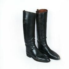 Pair of 19th Century Dutton & Thorowgood Tall Black Riding Equestrian Boot 10