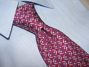 New Hermes Paris Red/Blue  Necktie Made in France 100% Silk (New without tags)
