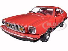 1976 FORD MUSTANG II MACH 1 RED W/ BLACK 1/18 DIECAST MODEL CAR GREENLIGHT 12867