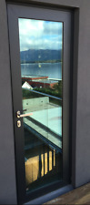 SCHUCO ADS 70.HI  SINGLE DOOR, ALUMINIUM - grey RAL 7016 - any size