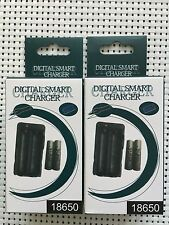 18650 6000mAh UltraFire Li-ion Rechargeable Charger Set of 2