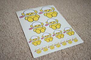 Hesketh Teddy Bear Grand Prix F1 Formula One Car Racing Decal Stickers