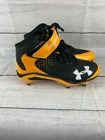 Under Armour Clutch Fit Renegade Football Cleats Black And Yellow Men's Size 9