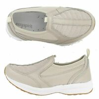 Women Easy Spirit PIERS Light Gold/Champagne Sneaker Slip On Walking Shoes