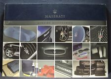 2009 Maserati Accessories Brochure Gran Turismo Quattroporte English,Italian Txt