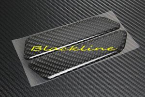 For 17~18 Audi A4 B9 Front Bumper Side Marker Reflector Carbon Fiber Decals 2pcs