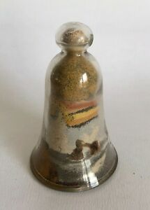 Antique Alum Bay Isle of Wight Coloured Sand Glass Bell - Arch Rock