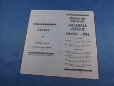 BASKETBALL LEAGUE SCHEDULE 1962 DEREHAM AND DORCHESTER ONTARIO CANADA