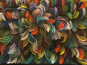 Selina Numina, BUSH MEDICINE LEAVES, Aboriginal Art 102x60cm w/ COA