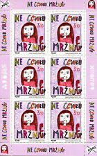 Croatia 2016 MNH Say No To Hate Speech 6v M/S Stamps