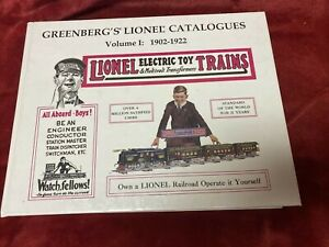 """Lionel 1902 Through 1922 Catalogs """"Greenberg"""" Bound Book More than Just Catalogs"""