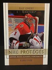 RAY EMERY 2002-03 Upper Deck Classic Portraits ROOKIE Card #138 Serial #d /1500