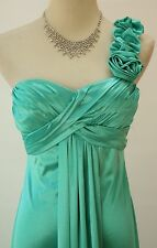 NEW Masquerade Mint $70 Evening Prom Formal Cruise Long Dress size 3 Celery Gown
