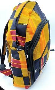 Kente Ankara Fabric Africa Ghana Print Big Backpack Rucksack Gym Handmade Bag👌