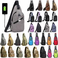 Mens Sling Bag Chest Pack Cycle Sports Backpack Shoulder Cross Body Travel Bag