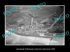 OLD LARGE HISTORIC PHOTO ZOUTELANDE NETHERLANDS HOLLAND TOWN AERIAL VIEW 1940