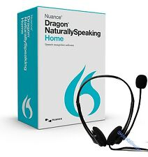 NUANCE Dragon NaturallySpeaking Home 13 w/ Headset and DVD @NEW@