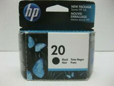 HP 20 Black Ink Cartridge Exp.10/2011 (Box opened, but ink packet is sealed)