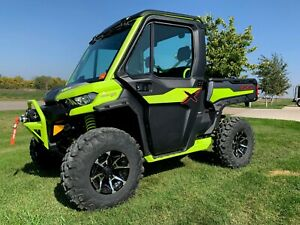 2021 Can-Am Defender X  MR HD10  Manta Green & Iron Gray DOOR DECAL KIT ONLY
