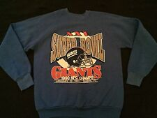 Vintage 1990 New York Giants Super Bowl 25 XXV NFL Sweatshirt L