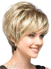 New sexy ladies short Blonde Straight Natural Hair wigs + Wig cap