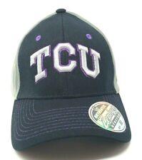 Tcu Horned Frogs Stretch-Fit Cap Hat Zephyr Ncaa Black Gray Texas Christian Xl