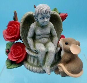 You're An Angel~Charming Tails~Mouse/Mice Figurine~Fitz & Floyd~Roses~Statue