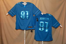 CALVIN JOHNSON  Detroit Lions  NIKE DRENCHED sewn name JERSEY  Large  NWT  $135