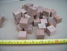"50x Wood cubes. Wooden cubes / blocks.25mm 1"" MAHOGANY not Birch"