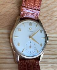 Omega DeVille Tresor Men's 9k Gold Wristwatch with Solid Gold Omega Clasp