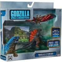Godzilla contra Mothra Figura 9cm Fondos Escenario King Of Monster Jakks Pacific