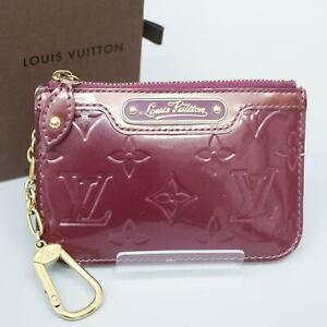 LOUIS VUITTON POCHETTE CLES NM Coin Purse Key Case Vernis M93560 Violette w/Box