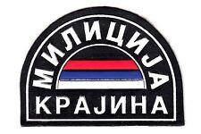 YUGOSLAVIA / SERBIA-BALCAN WAR ERA - SERB POLICE OF KRAJINA REGULAR SLEEVE PATCH