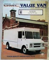 GMC VALUE VAN ADVERTISING SALES BROCHURE GUIDE 1983 VINTAGE GM COMMERCIAL VANS