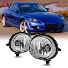 For Mazda RX-8 04-07 Clear Lens Pair Bumper Fog Light Lamp OE Replacement DOT