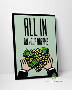 MONOPOLY Motivational Inspirational Quote Canvas Art Wall Art Print Picture-C452