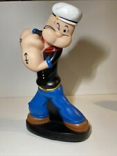 "Vintage Precious Kids - Popeye the Sailor Man - 11.5"" Tall Vinyl Bank - Vgc! 🌟"