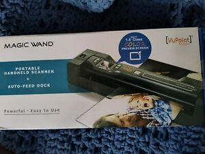 VuPoint Magic Wand Portable Handheld Scanner + Auto-Feed Dock NIB