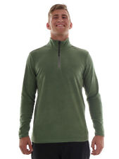 Brunotti Fleece Pullover Long Sleeve Top Green Tenno Insulating