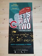 PEARL JAM LET'S PLAY TWO Original Music Movie Poster 12x27 LIVE AT WRIGLEY FIELD