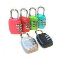 SECURITY 3 COMBINATION TRAVEL SUITCASE LUGGAGE BAG CODE GYM LOCK PADLOCK RESET